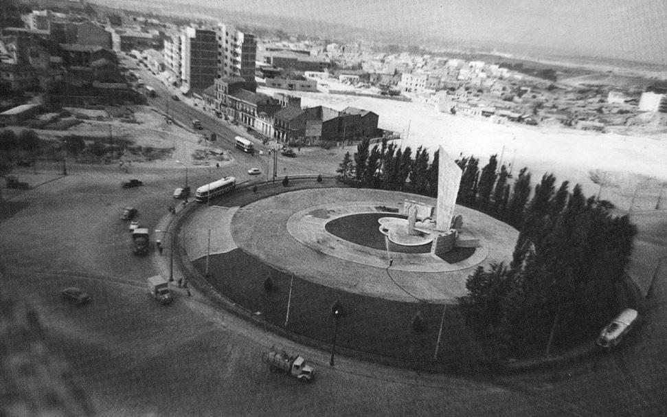La foto de la semana: Plaza de Castilla. Vista aérea. 1962