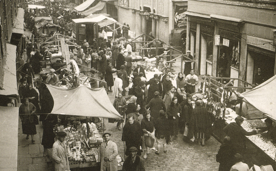 La foto de la semana: Calle de Santa Isabel. Mercado de Antón Martín. Años 30